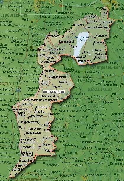 Карта Бургенланда (Burgenland)