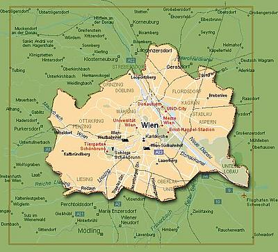 План Вены (Wien)