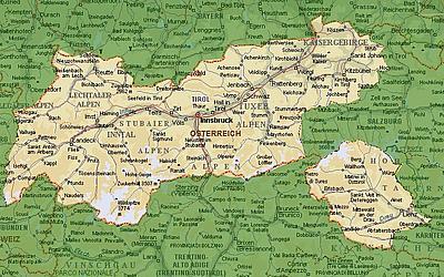 Карта Тироля (Tirol)