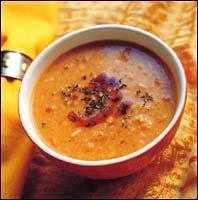Суп картофельный с трепангами и копченой грудинкой. Швейцарские рецепты