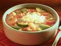 Суп рисовый с помидорами и морским гребешком. Швецарские рецепты