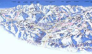 Карта горнолыжных спусков курорта Санкт-Моритц