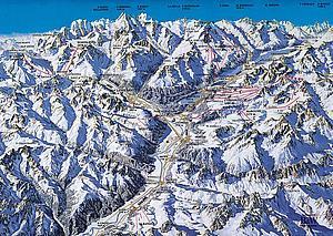Схема горнолыжных трасс курорта Санкт-Моритц (St.Moritz)