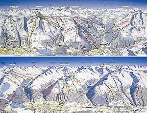 Cхема горнолыжных трасс Давоса (Davos)