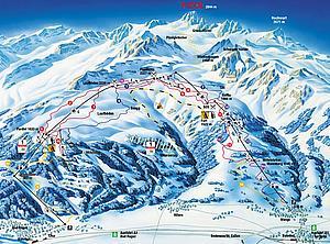 Карта  лыжных путей Бад-Рагаца
