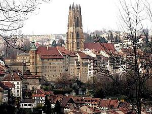 Фрибург. Замок. Швейцария