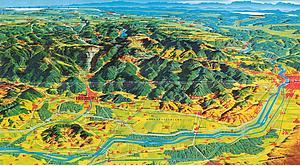 Карта Фрибурга и ближайших окресностей