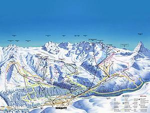 Горные дороги Церматта. Кантон Вале. Швейцария