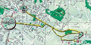 Подробная карта города Лозанны. Кантон Во. Швйцария