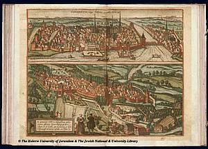 Карта Санкт-Галлен 1575 г. Восточная Швейцария