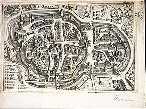 Санкт-Галлен. Восточная Швейцария. 1642