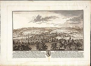 Санкт-Галлен в полночь. Восточная Швейцария.1758 г.