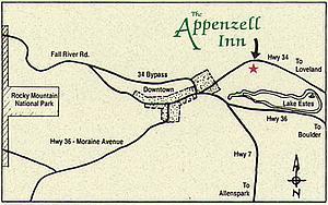 Карта Аппенцелля. Восточная Швейцария