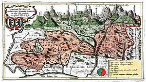 Карта Аппенцелля. 1740 г.
