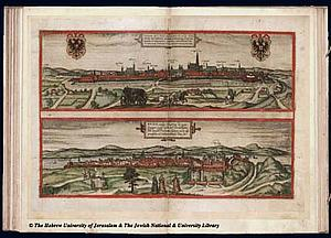 Вена. 1572. Источник: Braun and Hogenberg Civitates Orbis Terrarum I-41