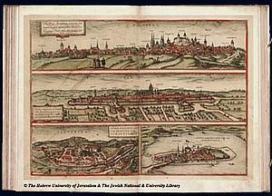 Зальцбург. 1572 . Источник: Braun and Hogenberg Civitates Orbis Terrarum I-31