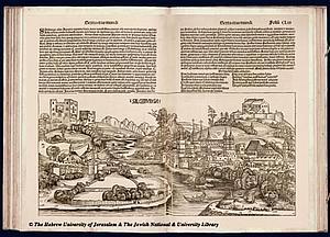 Зальцбург. 1493 . Источник: Hartmann Schedel. Liber chronicarum CL-III