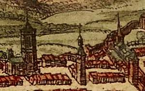 Фрагмент карты из книги Braun and Hogenberg I-32. 1572