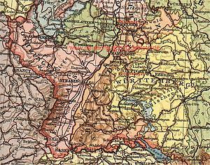 Карта Баден-Вюртемберга