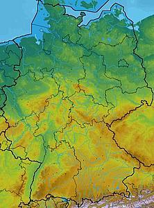 Географическая карта Бранденбурга