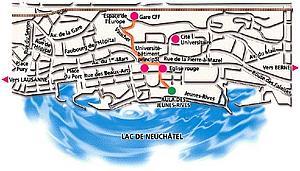 Карта Невшатель. Швейцария