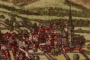 Фрагмент карты Ури 1572 из  Braun and Hogenberg, Civitates Orbis Terrarum, map I-32