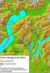 Карта кантона Тичино. Швейцария