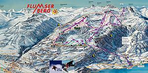 Карта снежных дорого кантона Тичино. Швейцария