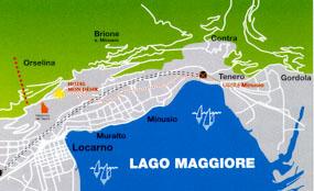 Карта расположения Локарно