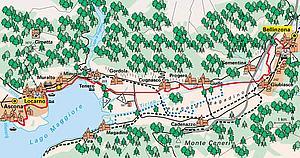 Локарно. Карта местности. Швейцария