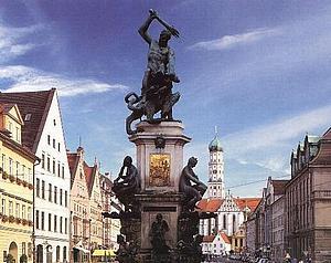 Аугсбург (Augsburg) Фонтан