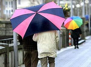 В Дюссельдорфе в январе чаще идет дождь, чем снег.